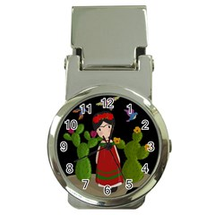 Frida Kahlo Doll Money Clip Watches by Valentinaart
