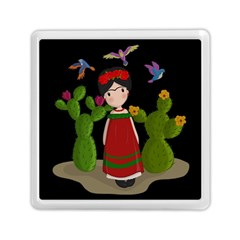 Frida Kahlo Doll Memory Card Reader (square)  by Valentinaart