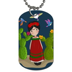 Frida Kahlo Doll Dog Tag (one Side) by Valentinaart