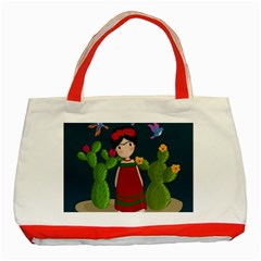 Frida Kahlo Doll Classic Tote Bag (red)
