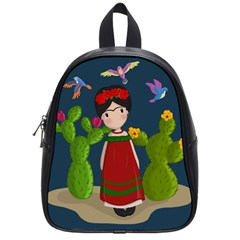 Frida Kahlo Doll School Bag (small) by Valentinaart