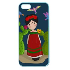 Frida Kahlo Doll Apple Seamless Iphone 5 Case (color) by Valentinaart