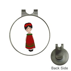 Frida Kahlo Doll Hat Clips With Golf Markers by Valentinaart