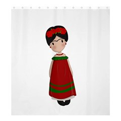 Frida Kahlo Doll Shower Curtain 66  X 72  (large)  by Valentinaart