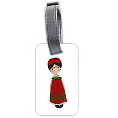 Frida Kahlo Doll Luggage Tags (one Side)  by Valentinaart