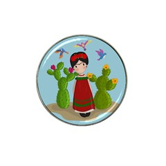 Frida Kahlo Doll Hat Clip Ball Marker (10 Pack) by Valentinaart