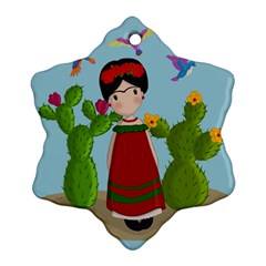 Frida Kahlo Doll Snowflake Ornament (two Sides) by Valentinaart