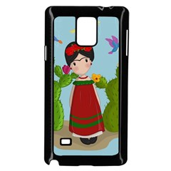 Frida Kahlo Doll Samsung Galaxy Note 4 Case (black) by Valentinaart