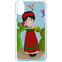 Frida Kahlo Doll Apple Iphone X Seamless Case (white) by Valentinaart