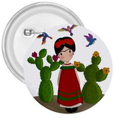 Frida Kahlo Doll 3  Buttons by Valentinaart