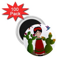 Frida Kahlo Doll 1 75  Magnets (100 Pack)  by Valentinaart