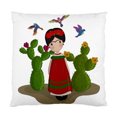 Frida Kahlo Doll Standard Cushion Case (one Side) by Valentinaart