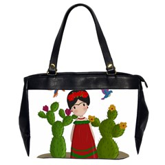 Frida Kahlo Doll Office Handbags (2 Sides)