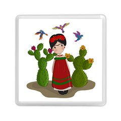 Frida Kahlo Doll Memory Card Reader (square)