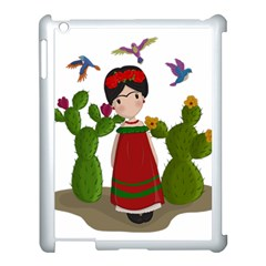 Frida Kahlo Doll Apple Ipad 3/4 Case (white) by Valentinaart