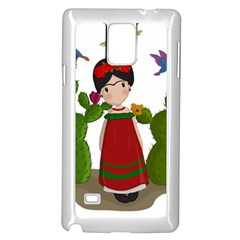 Frida Kahlo Doll Samsung Galaxy Note 4 Case (white) by Valentinaart