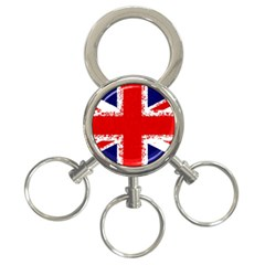 Union Jack London Flag Uk 3 Ring Key Chains by Celenk