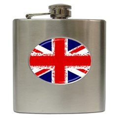Union Jack London Flag Uk Hip Flask (6 Oz) by Celenk