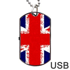 Union Jack London Flag Uk Dog Tag Usb Flash (one Side) by Celenk