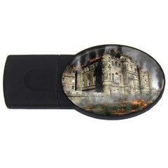 Castle Ruin Attack Destruction Usb Flash Drive Oval (2 Gb) by Celenk