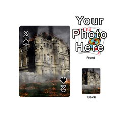 Castle Ruin Attack Destruction Playing Cards 54 (mini)  by Celenk