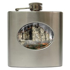 Castle Ruin Attack Destruction Hip Flask (6 Oz) by Celenk