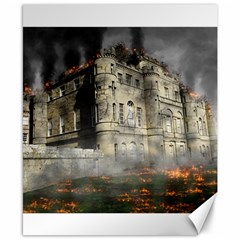Castle Ruin Attack Destruction Canvas 8  X 10