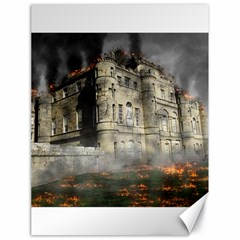 Castle Ruin Attack Destruction Canvas 18  X 24