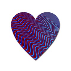 Wave Pattern Background Curves Heart Magnet