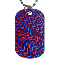 Wave Pattern Background Curves Dog Tag (one Side) by Celenk