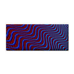 Wave Pattern Background Curves Cosmetic Storage Cases by Celenk