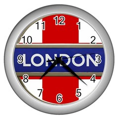 London England Wall Clocks (silver)  by Celenk