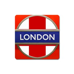 London England Square Magnet by Celenk