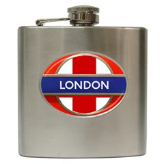 London England Hip Flask (6 Oz) by Celenk