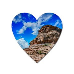 Mountain Canyon Landscape Nature Heart Magnet
