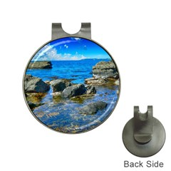 Shoreline Sea Coast Beach Ocean Hat Clips With Golf Markers