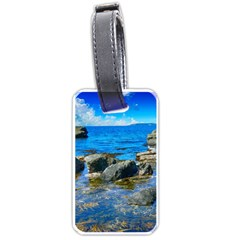 Shoreline Sea Coast Beach Ocean Luggage Tags (one Side)  by Celenk