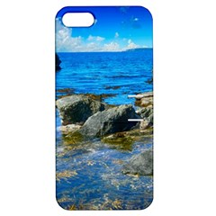 Shoreline Sea Coast Beach Ocean Apple Iphone 5 Hardshell Case With Stand