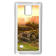 Rocks Outcrop Landscape Formation Samsung Galaxy Note 4 Case (white) by Celenk