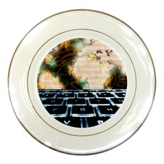 Ransomware Cyber Crime Security Porcelain Plates