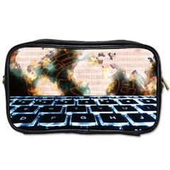 Ransomware Cyber Crime Security Toiletries Bags 2 Side by Celenk