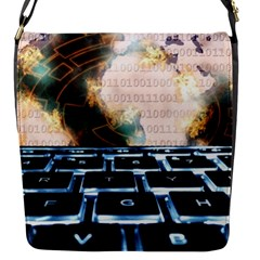 Ransomware Cyber Crime Security Flap Messenger Bag (s)