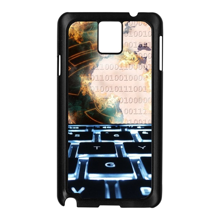 Ransomware Cyber Crime Security Samsung Galaxy Note 3 N9005 Case (Black)