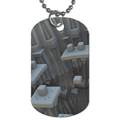 Backdrop Pattern Surface Texture Dog Tag (one Side)