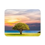 Tree Sea Grass Nature Ocean Double Sided Flano Blanket (Mini)  35 x27 Blanket Back