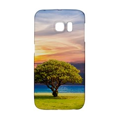 Tree Sea Grass Nature Ocean Galaxy S6 Edge by Celenk