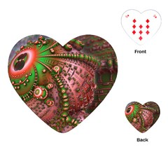 Fractal Symmetry Math Visualization Playing Cards (heart)  by Celenk