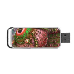 Fractal Symmetry Math Visualization Portable Usb Flash (one Side) by Celenk