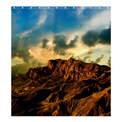Mountain Sky Landscape Nature Shower Curtain 66  X 72  (large)  by Celenk