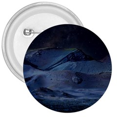 Landscape Night Lunar Sky Scene 3  Buttons by Celenk
